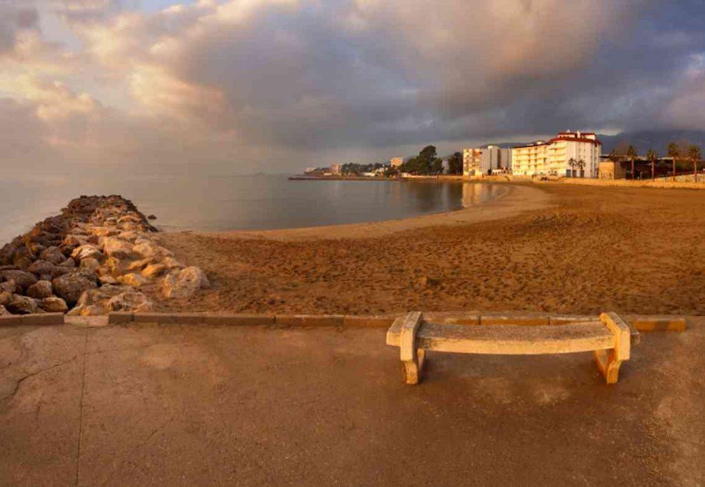 Playa de les Delicies en Sant Carles de la Ràpita